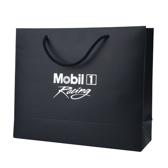 Mobil 1 Foil Blocked Paper Carrier Bags