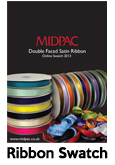 Double Faced Satin Ribbon Swatch